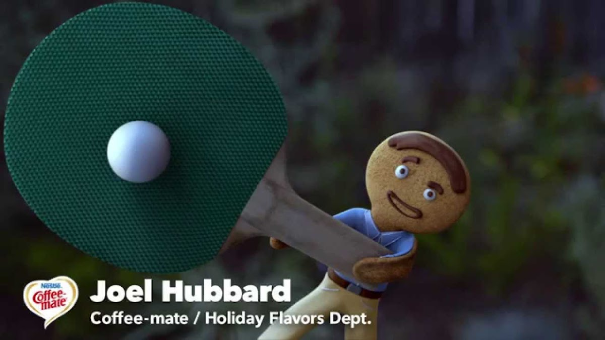 Joel Hubbard, The Gingerbread Man Coffee-mate's New Holiday Flavor Expert