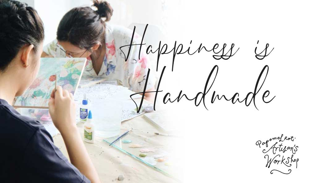 Happiness Is Handmade Craft Materials Feature Papemelroti Gifts