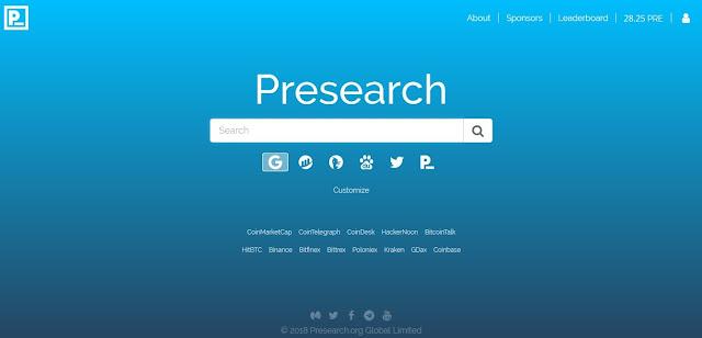 شرح تسجيل في Presearch وربح 100 دولار من عمليات البحث