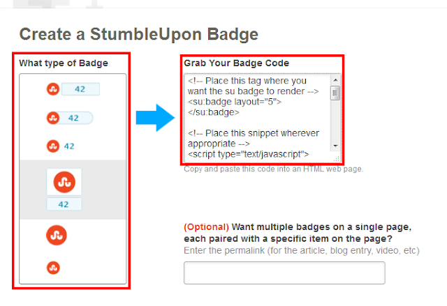 Stumbleupon Share Button on Blogger