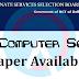 DSSSB TGT Computer Science Question Paper