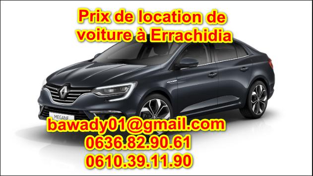 Prix de location de voiture à Errachidia