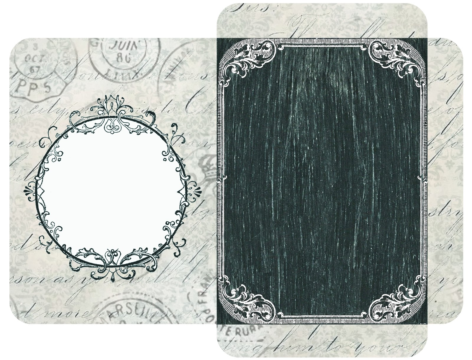 Blank Printable Tags: Lilac & Lavender: Printable Chalkboard Tags, Labels, And More