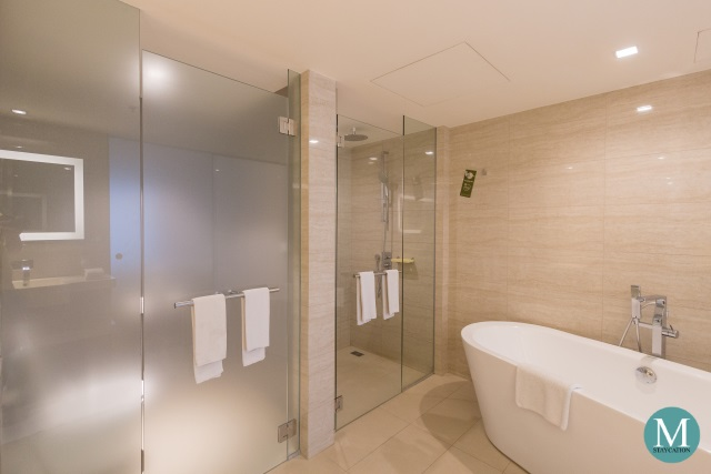 bathroom of Executive Suite at Novotel Manila Araneta City