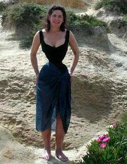 Foto de Cathie Jung en la playa