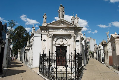 A cemetery area of 5.5 hectares located in the Recolate area, Buenos Aires, Argentina. This cemetery there are the graves of famous people, include  ex first lady Evita Peron, actress Zully Moreno, and some Argentina President