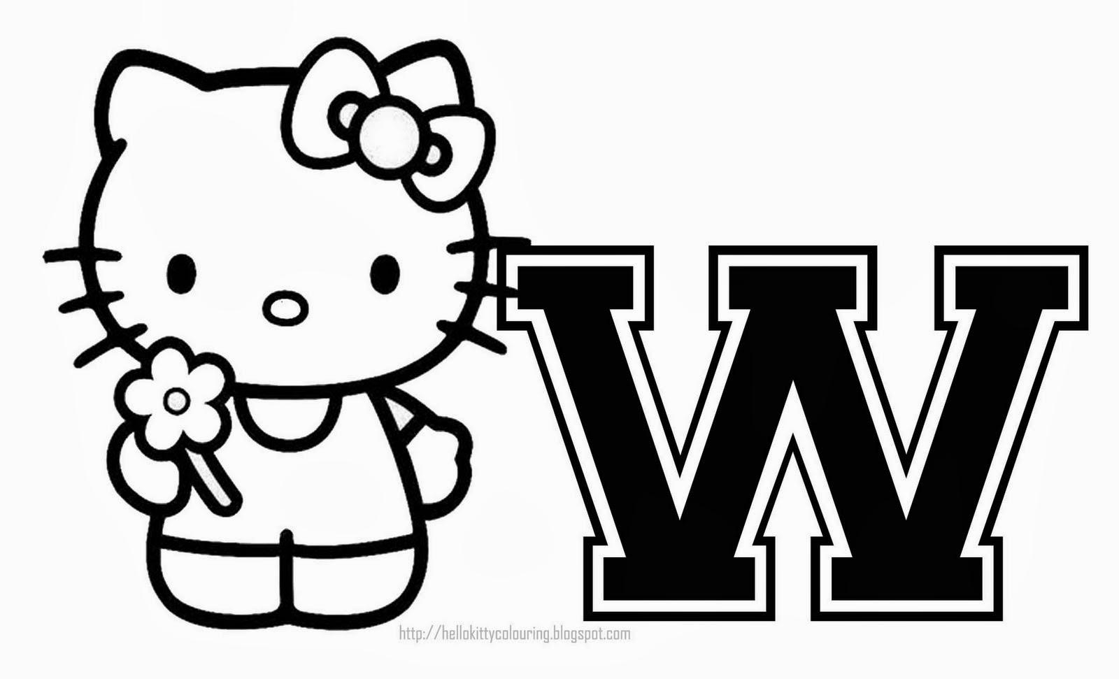 Alfabeto De Hello Kitty Para Colorear