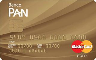 Cartão PAN Gold MasterCard