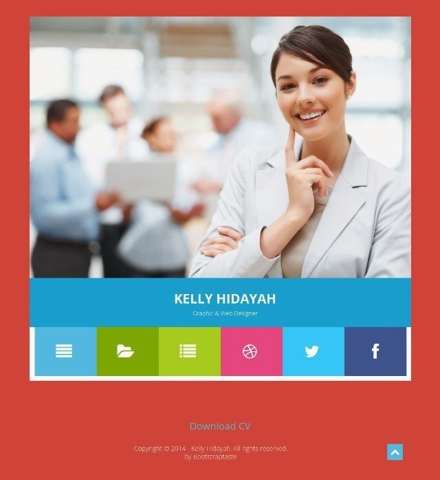 Kelly – Free Bootstrap CV Resume HTML Template