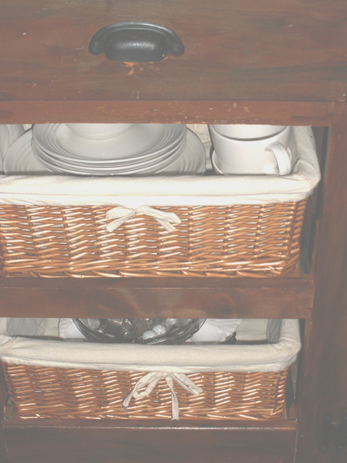 BRAYTON HOMESTEAD INTERIORS: Basket drawers new to my old ...