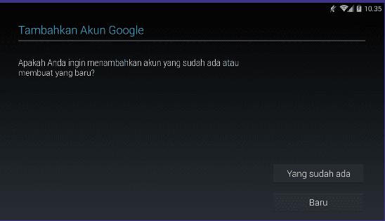 Cata tambah akun Gmail android