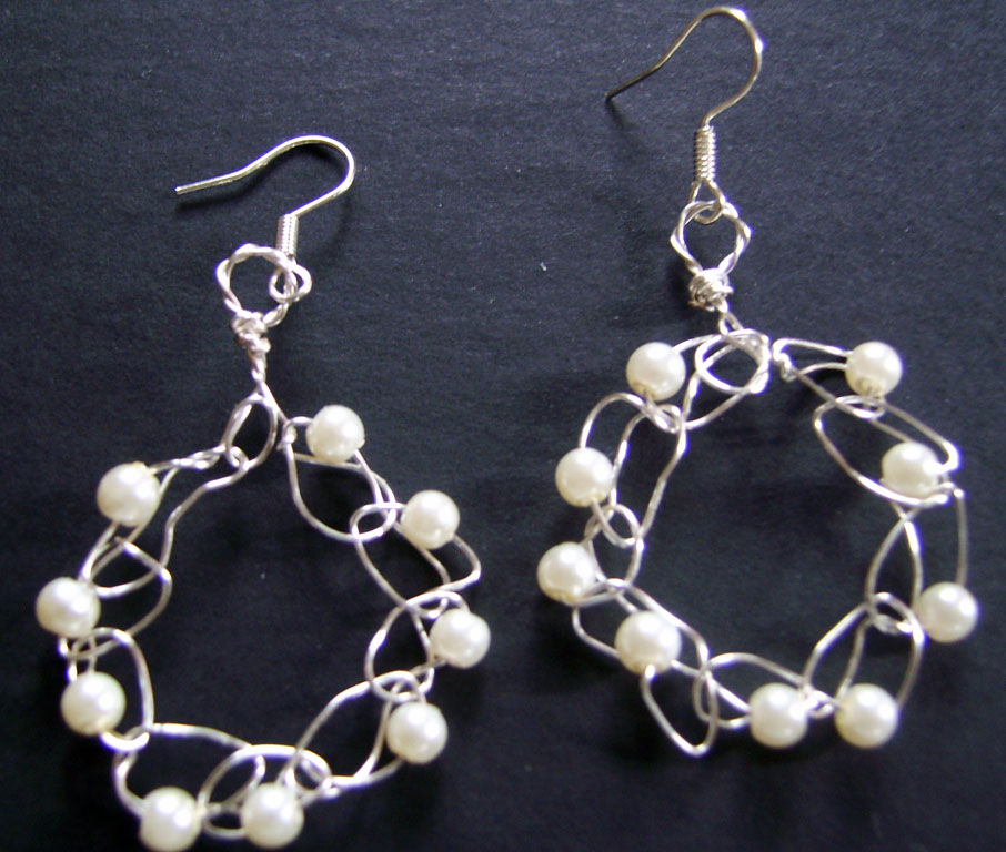 Crochet Wire Creations And Crafts How To Make Silver Wire