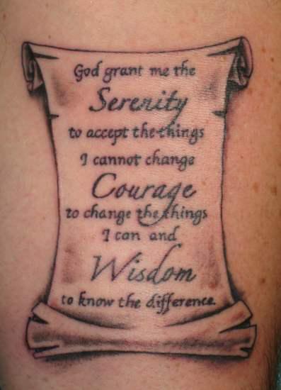 Serenity Prayer Tattoo3d Tattoos