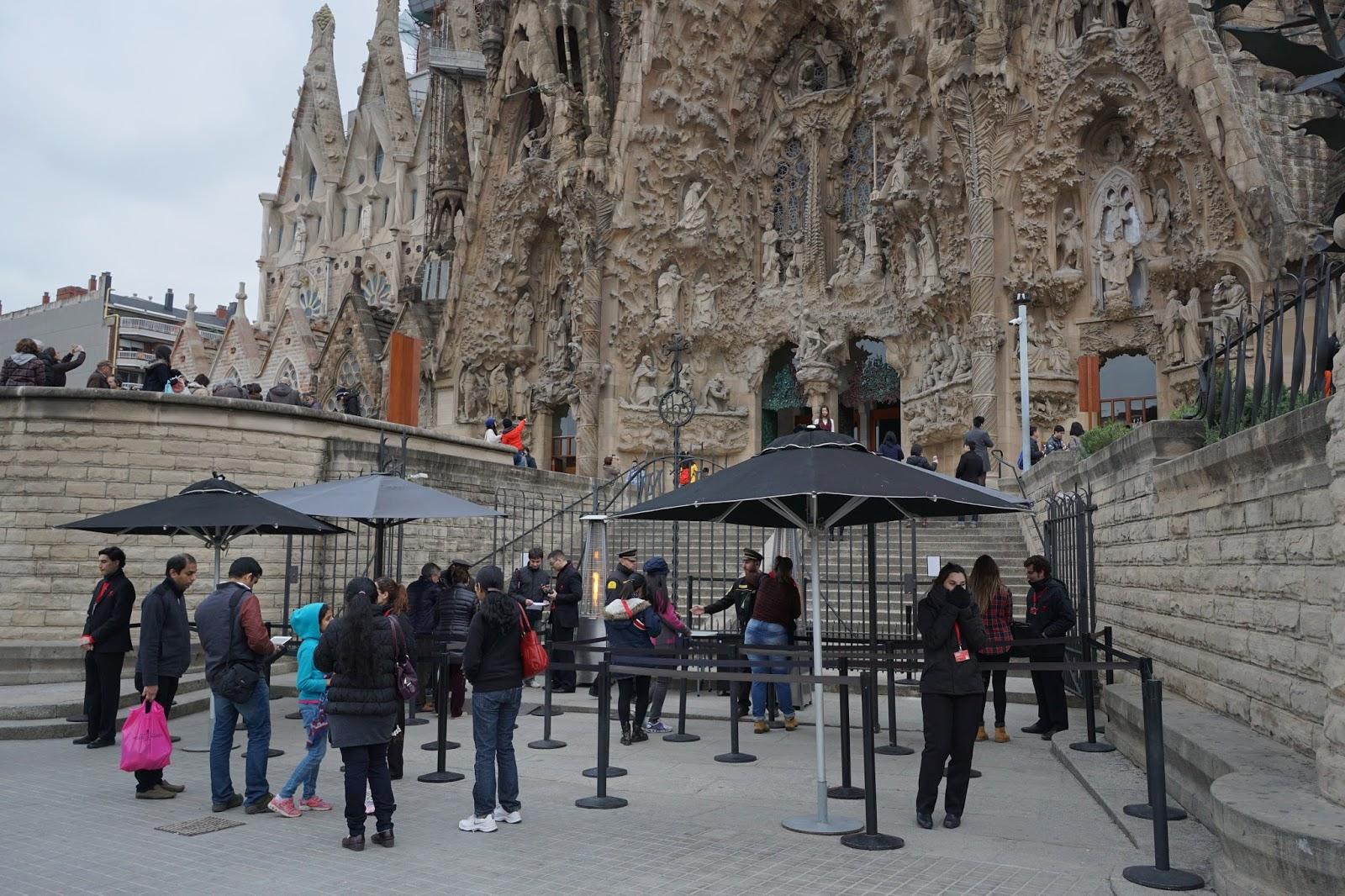 サグラダ・ファミリア (Sagrada Familia) 入口