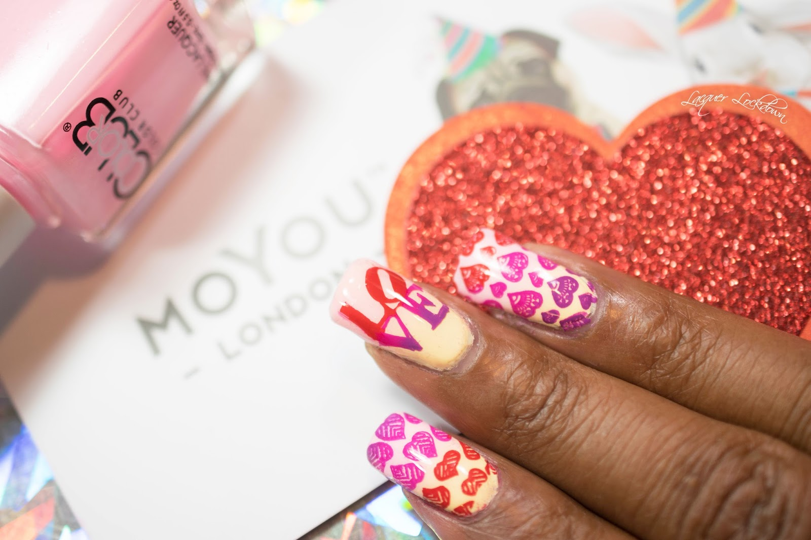 Lacquer Lockdown: Valentine\'s Day 2016: Heart Gradients on Gradients ...