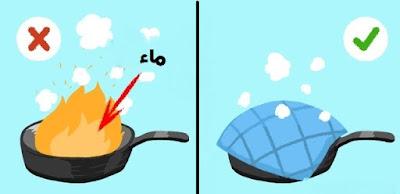 حريق مقلاة
