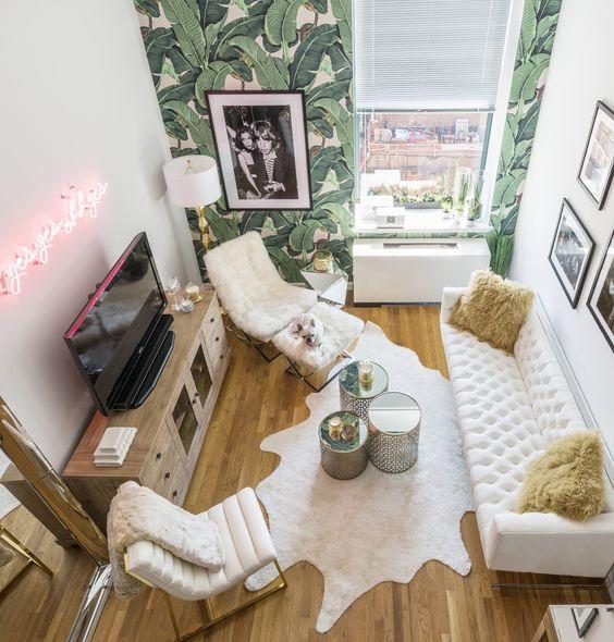 Megapost 50 ideas geniales para decorar un piso peque o - Decorar salon alargado ...