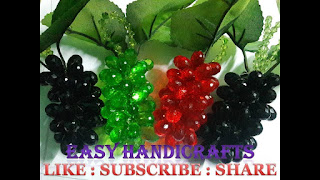 #EASY HANDiCRAFTS, #Crystal, #Grapes, #Apple, #Guitar, #Necklace