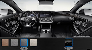 Nội thất Mercedes S400 4MATIC Coupe 2017 màu Đen Leather 961