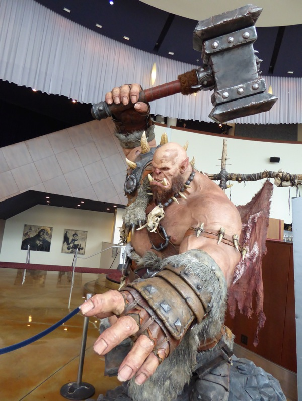 Orgrim Doomhammer Warcraft statue ArcLight Hollywood