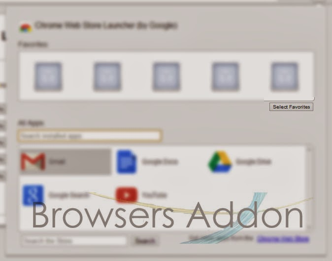 Chrome Web Store Launcher selecting favorite apps