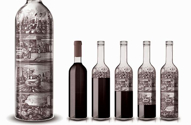 Una botella de vino que muestra un fuerte mensaje sobre el consumo irresponsable de alcohol