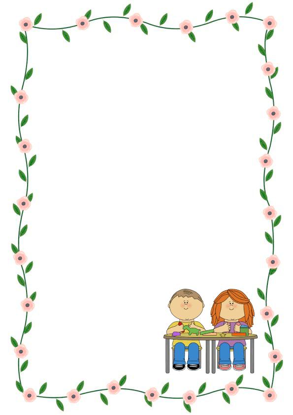 Caratulas de cuadernos para niños y  niñas de inicial de rosas