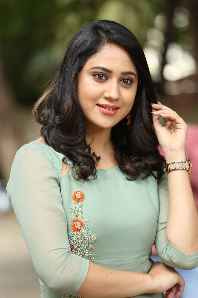 Miya George Long Hair In Green Dress