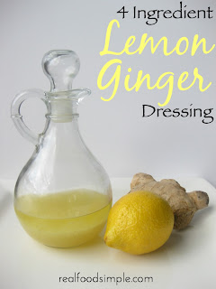 One of the most simple real food items you can make is homemade salad dressing. And this lemon ginger dressing only has 4 ingredients! | realfoodsimple.com