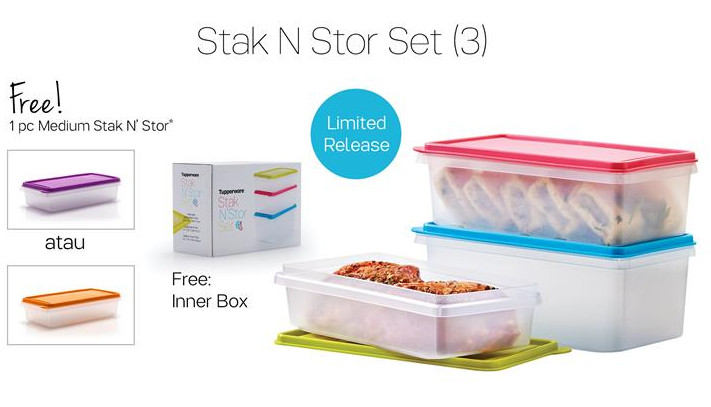 Tupperware Stak N' Stor Set (3) Promo November 2016