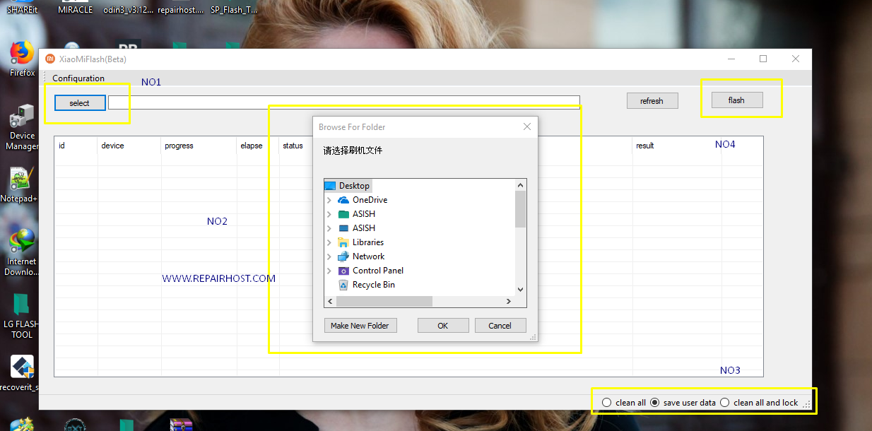 Xiaomi Mi Flash Tool (Beta)  - Only Working Version.