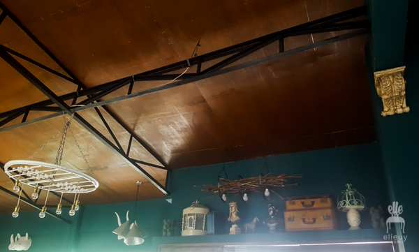 Third Space Studio Cafe, vintage eclectic, wood ceiling