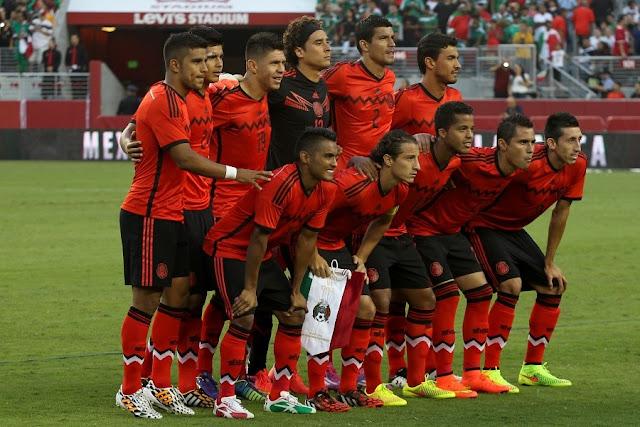 Formación de México ante Chile, amistoso disputado el 6 de septiembre de 2014