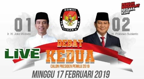 Saksikan Malam ini Debat Live Pilpres 2019