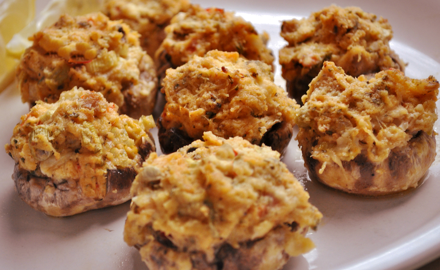 Mom's Shrimp-stuffed Mushrooms