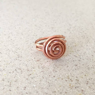 domed spiral wire ring free tutorial - Lisa Yang's Jewelry Blog