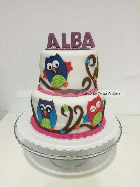 tarta buhos owl cake