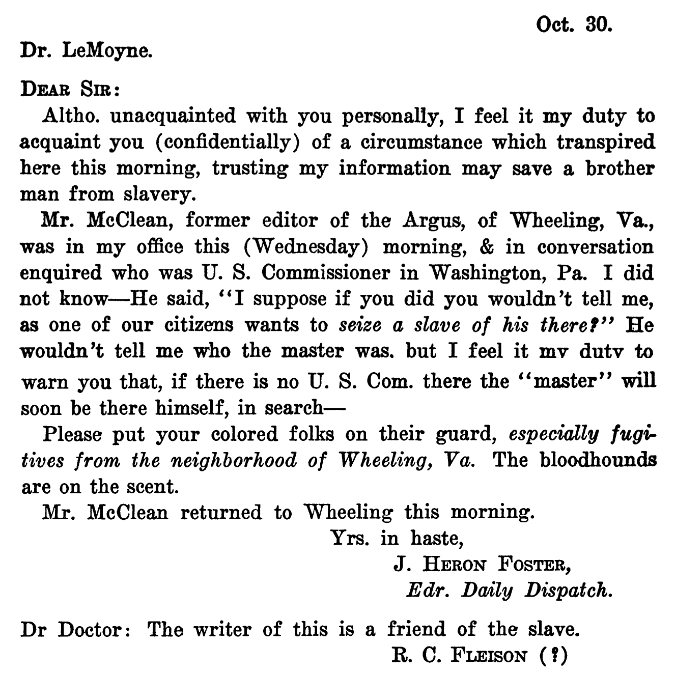 Ancestral discoveries who do you think you are julie bowen f j lemoyne et al anti slavery letters of dr f j lemoyne of washington pennsylvania the journal of negro history 184 october 1933 xflitez Choice Image