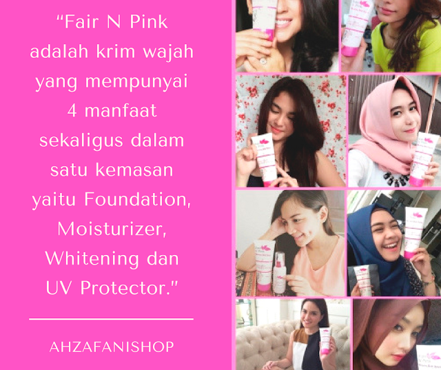 Testimoni akan manfaat paket wajah Fair n Pink