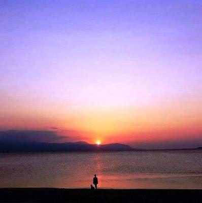 Sunset in Loutraki Greece Photo taken fron Maistrali Taverna by Greeker than the Greeks