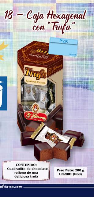 Caja hexagonal de trufas 200 g El Patriarca - Comercial H. Martín sa