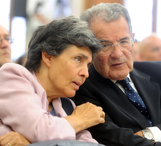 Prodi with his wife, Flavia Franzoni