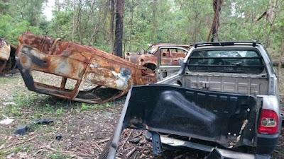 Guarda Civil de Sorocaba encontra 'cemitério' de veículos no bairro Altos do Itavuvu