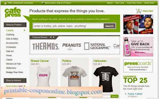 Free Printable CafePress Coupons