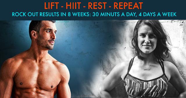 liift 4, joel freeman, hiit, lifting, home workout, summer body, summer workout, meal plan,