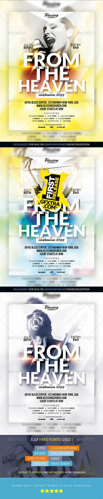 GraphicRiver - Multipurpose Christian Celebration Flyer 4 free download