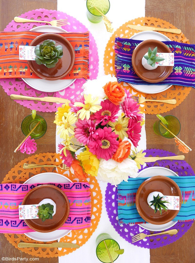 A colorful cinco de mayo mexican fiesta party ideas for Mexican party decorations