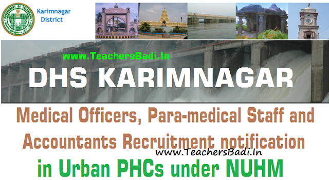 Karimnagar Medical Officer,ANM,Staff Nurse,Pharmacist,Lab Technician,Accountant Posts 2016