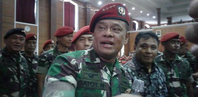Gatot Berkaca-kaca Saat Pamitan Dengan Prajurit TNI