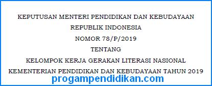 Kepmendikbud Nomor 78/P/2019